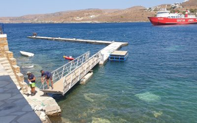 ΔΕΛΤΙΟ ΤΥΠΟΥ : Εγκατάσταση πλωτών εξεδρών στο λιμένα Μέριχα Κύθνου